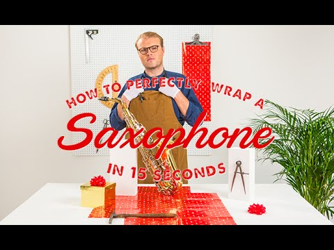 How To Wrap A Saxophone in 15 Seconds