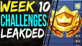Fortnite Week 10 Challenges LEAKED - Skydive Through Floating Rings - Battle Pass Challenges (en anglais seulement)