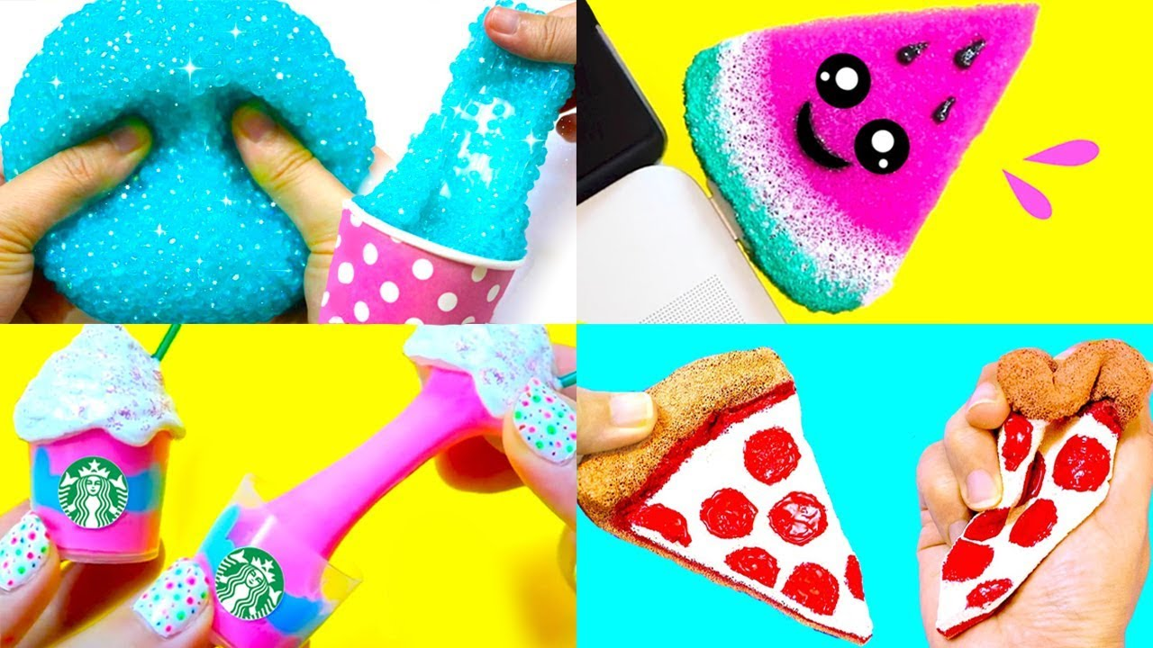 5 Diy Food Slimes Squishies Stress Relievers Slime Squishy Stress Balls