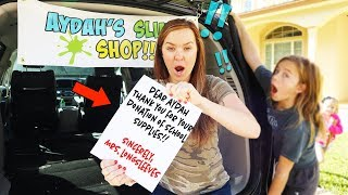 SHE BROKE INTO OUR SECRET SLIME TRUCK!