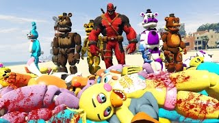 animatronics vs venompool gta 5 mods fnaf funny moments