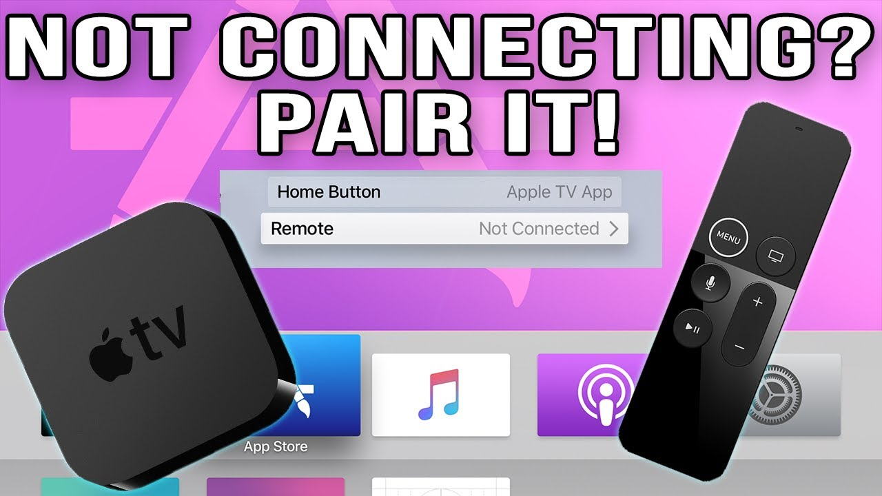 How To Reset Apple Tv Siri Remote How To Pair Apple Tv Remotes Youtube