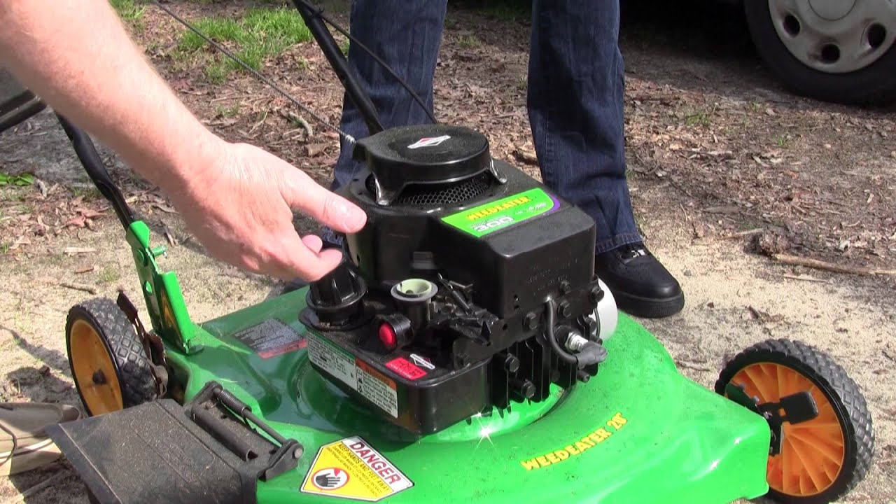 The Lawn Mower Won T Start Dies Help Youtube