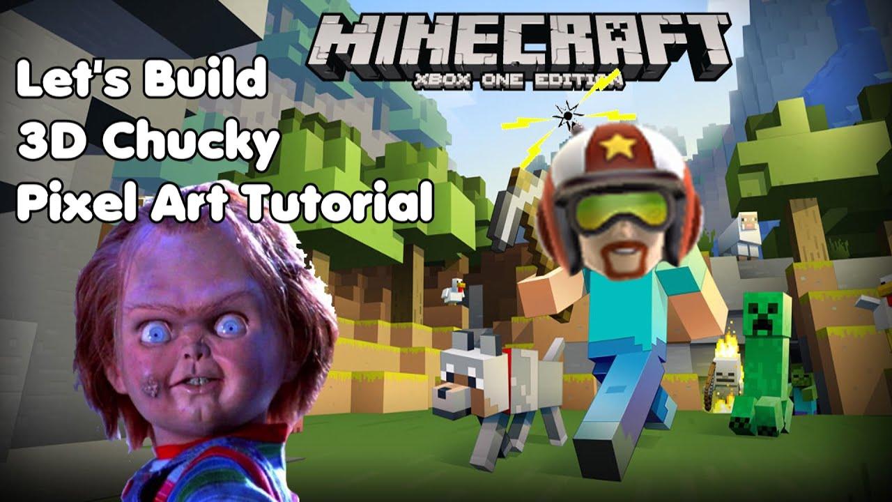 Minecraft Pixel Art Tutorial Chucky Child S Play Youtube