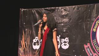 Telangana Folk Singer Madhu Priya singing folk song at Tantex Deepavali Celebration