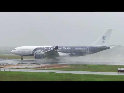A330 Arrival At Cheddi Jagan International airport Guyana