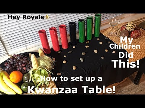 VLOGZAA DAY 1| HOW TO SET UP A KWANZAA TABLE ❤️🖤💚 | MY CHILDERN DID THIS ONE! 😱