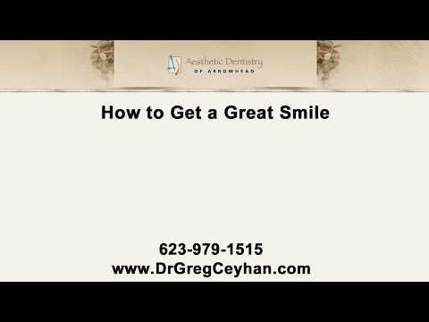 Tips From Our Glendale Cosmetic Dentist On How To Get A Great Smile!