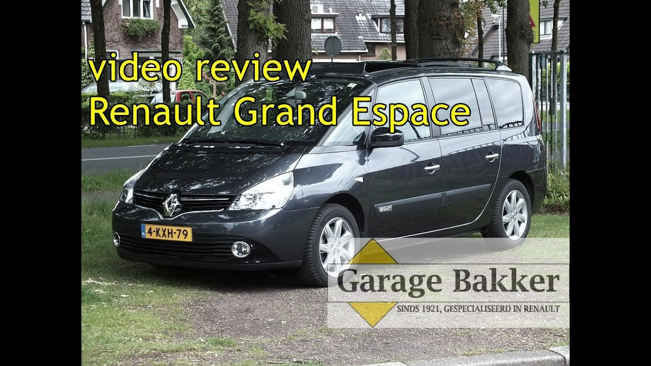 video review renault grand espace 2 0 dci 150 dynamique 2013 4 kxh 79 youtube. Black Bedroom Furniture Sets. Home Design Ideas