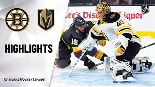 Bruins @ Golden Knights 10/8/19 Highlights