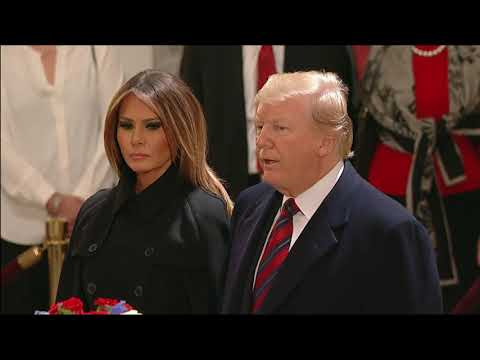 Trump salutes Bush's casket in Capitol rotunda