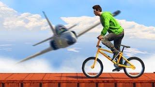 НЕПРОХОДИМЫЙ BMX vs. САМОЛЁТЫ! (GTA 5 Смешные Моменты)