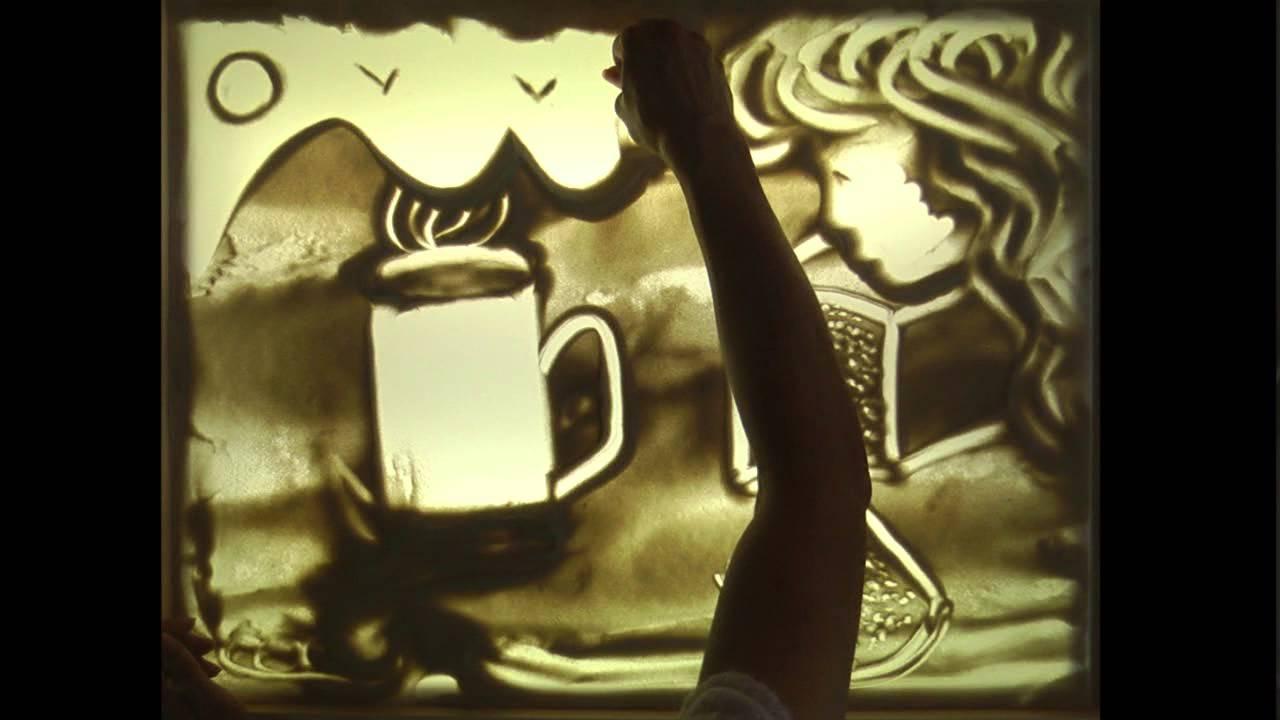 Снов картинки, песочная анимация 70 лет победы