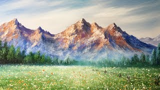 Paint Mountains With Acrylic Paints - lesson 2