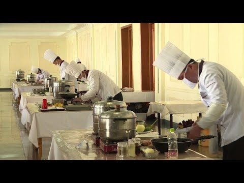 Cooking competition in North Korea as Olympics continue in South