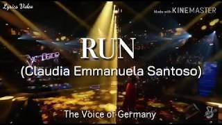 Claudia Emmanuela Santoso - Run (Snow Patrol)   Lyrics Video