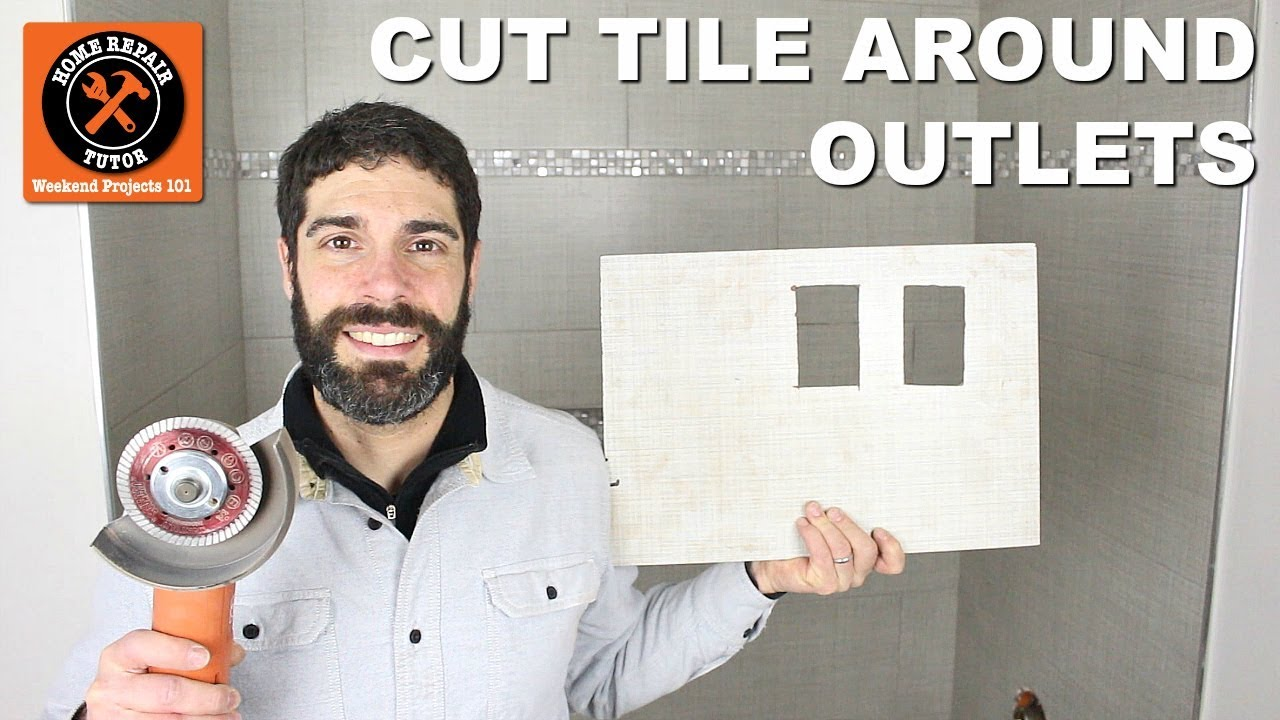 How To Cut Tile Around Outlets Easy Accurate Cuts Youtube Wiring A Three Way Light Switch Uk