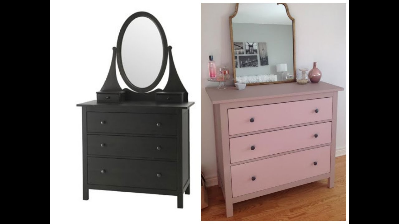 d corer pour pas cher comment peindre une commode ikea youtube. Black Bedroom Furniture Sets. Home Design Ideas