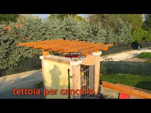 Tettoia per cancello youtube - Tettoia per porta ingresso ...