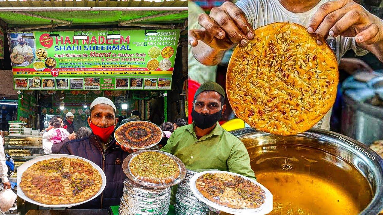 Download मेरठ वाले HAJI NADEEM SHAHI SHEERMAL || Desi ghee || Jama masjid street food
