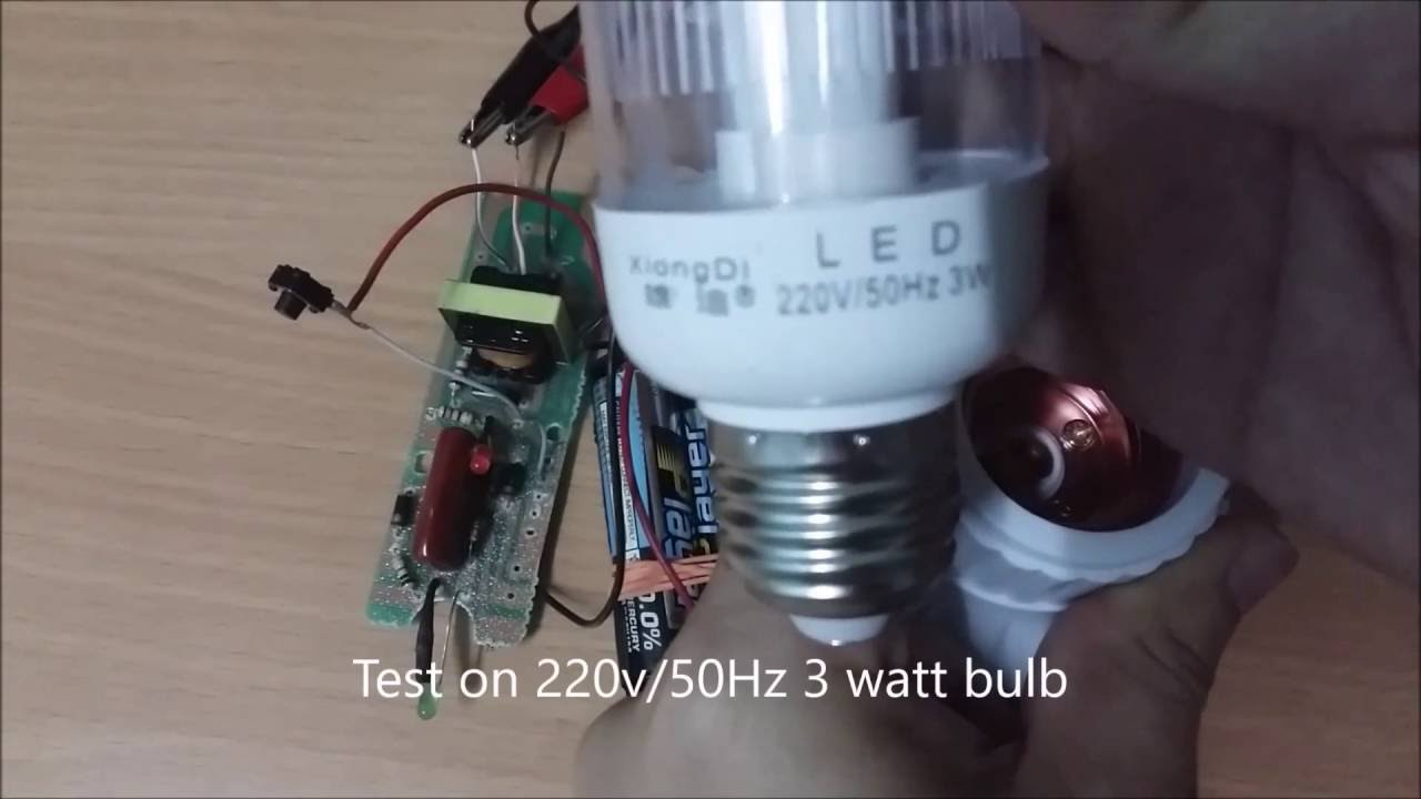 Easy Simple Step Up Voltage 3 Volt Dc Aa Batteries To 500 Ac Innovative Circuit Ict120124a Comm Series 120vac 12vdc 4 Amp Booster Youtube