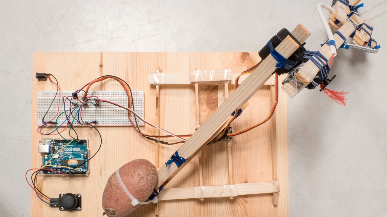 Robotic Arm from Recycled Materials