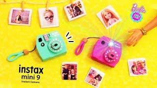 Como hacer CAMARA de fotos Instax MINI para muñecas Barbie en miniatura! MUY FACIL! Manualidolls