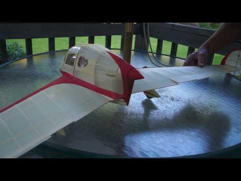 Compressed Air Motor test #2 in Free Flight SECAN SE.2100