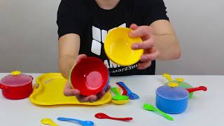 Обзор набора посуды «Ромашка» с подносом (арт. 39146)