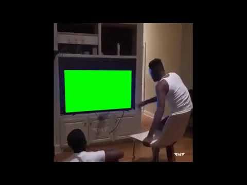 Guy Breaks Tv More Stable Green Screen Meme Template | Trending Meme Templates