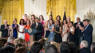 President Obama Honors the 2013 NCAA Champion UConn Huskies