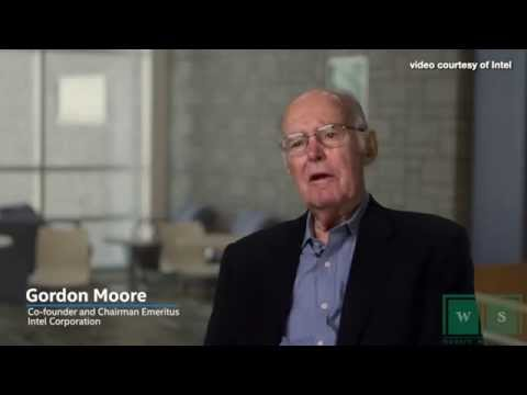 Intel celebrates 50th Anniversary of Moore's Law w. Gordon Moore