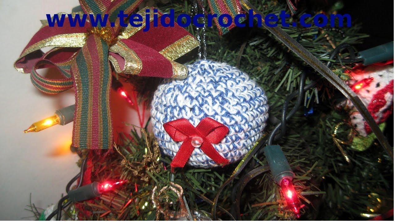 como tejer bolas de navidad en tejido crochet tutorial paso a paso youtube