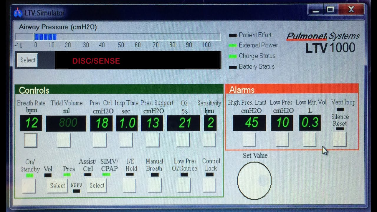 alarms on the ltv ventilator explained - youtube