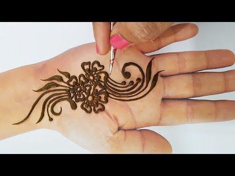Easy Mehndi Design Trick - Gudi Padwa Special Mehndi Design Easy - तीज,त्यौहार की नयी मेहँदी डिज़ाइन