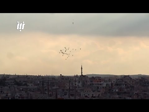 Footage of intense airstrikes and bombardment| Syria | February, 2017.
