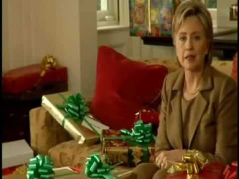 Hillary Clinton Lonely Christmas ad - Who's Bill with? - YouTube