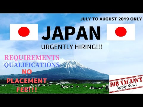 JULY - AUGUST 2019 | JAPAN JOB OPENING FOR FILIPINOS| MANPOWER AGENCIES ACRED BY POEA