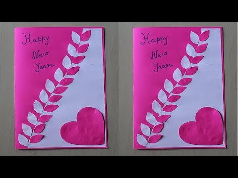 Diy How To Make New Year Card Handmade New Year Card Idea New Year Greeting Card