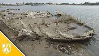 Emmerich: Dürre legt 123 Jahre altes Schiffswrack im Rhein frei