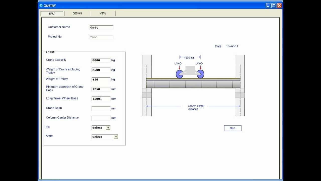 Overhead Crane Design Calculations : Solidworks automation crane gantry girder