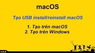 [MacBook - macOS] Tạo USB cài macOS cho Macbook trên Macbook (USB Install/Reinstall macOS)
