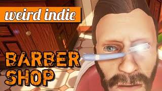 The Barber Shop game: Hipster stabbing simulator! (PC gameplay) | Weird Indie