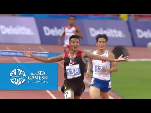 Athletics Men's 3000m Steeplechase Final (Day 7) | 28th SEA Games Singapore 2015""