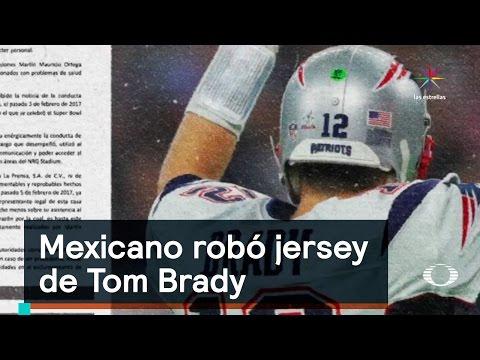 Mexicano robó jersey de Tom Brady - Perla Negra - Denise Maerker 10 en punto -