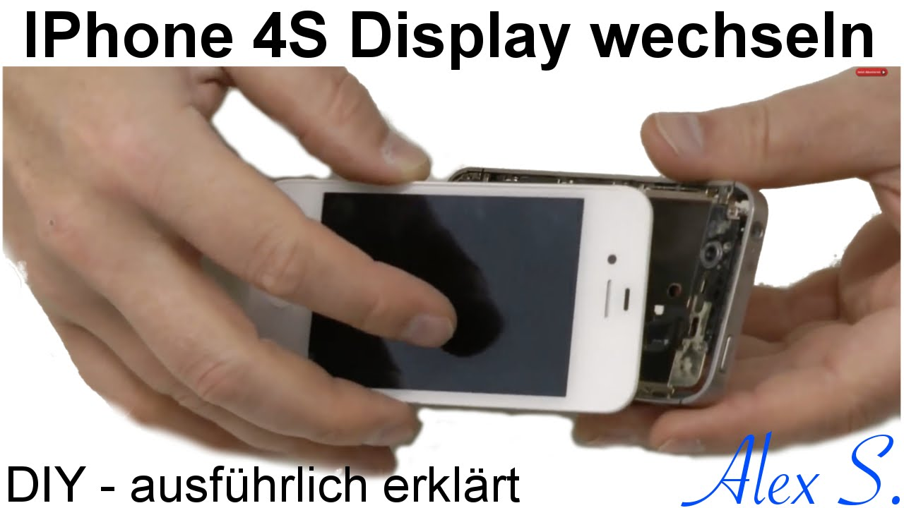 iphone 4s display touchscreen wechseln austauschen reparieren in deutsch youtube. Black Bedroom Furniture Sets. Home Design Ideas
