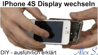 IPhone 4S Display. Touchscreen, wechseln, austauschen, reparieren in Deutsch