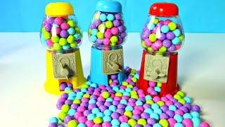 4 MAQUINAS DE DULCES Y GOLOSINAS CHOCOLATES ROJO AZUL Y AMARILLO| CANDY MACHINES|MundodeJuguetes