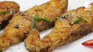 Как приготовить хрустящую жареную рыбу (Gajami yangnyeom twigim)
