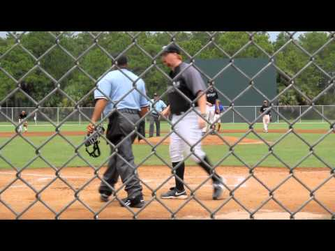 Ontario Blue Jays - Coach Ejection on Pitch Call - AAU Invit. 2012